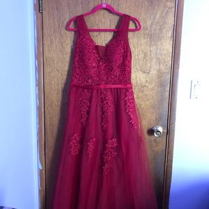 Dresses & Skirts - Long Red Prom Dress